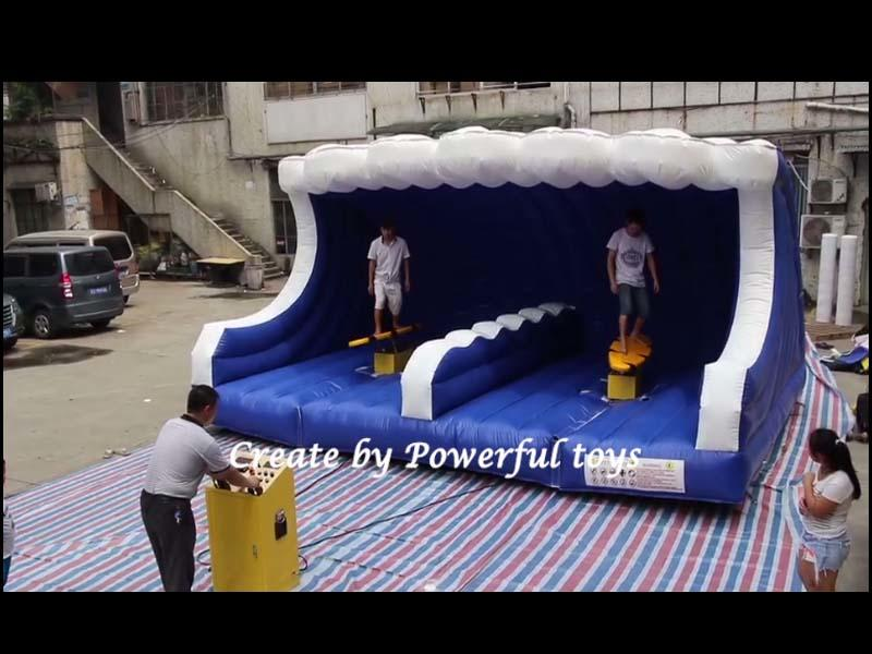 Inflatable surfing game
