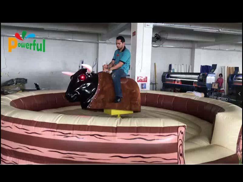 Mechanical bull video