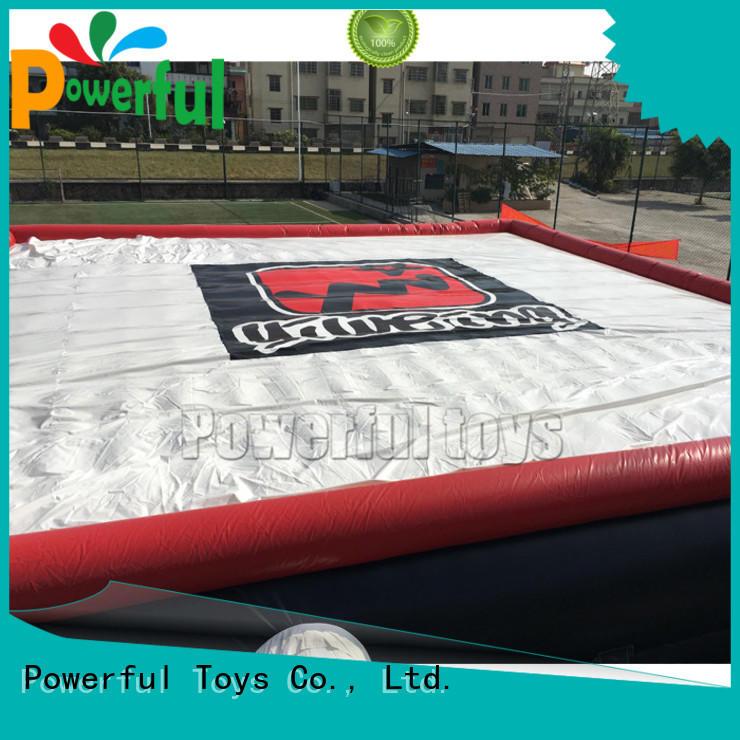 skiing freedrop jump zone trampoline Powerful Toys Brand