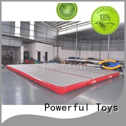 price blue Powerful Toys Brand air track gymnastics price factory