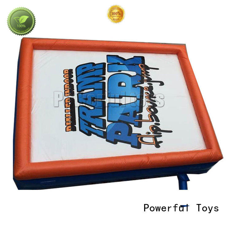 Powerful Toys jump safety air bag giant for sports
