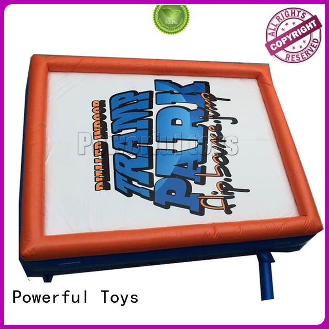 Powerful Toys Brand bag freedrop jump zone trampoline manufacture