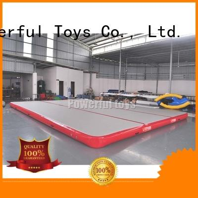 Powerful Toys inflatable air track gymnastics mat for club