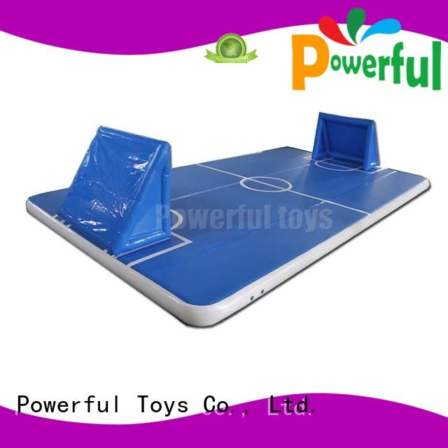 Powerful Toys blue air track tumble track longest for cheer leading