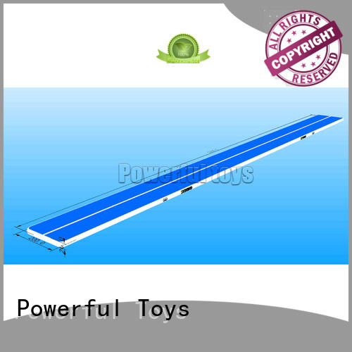 Powerful Toys inflatable tumble track trampoline mat for big trampoline