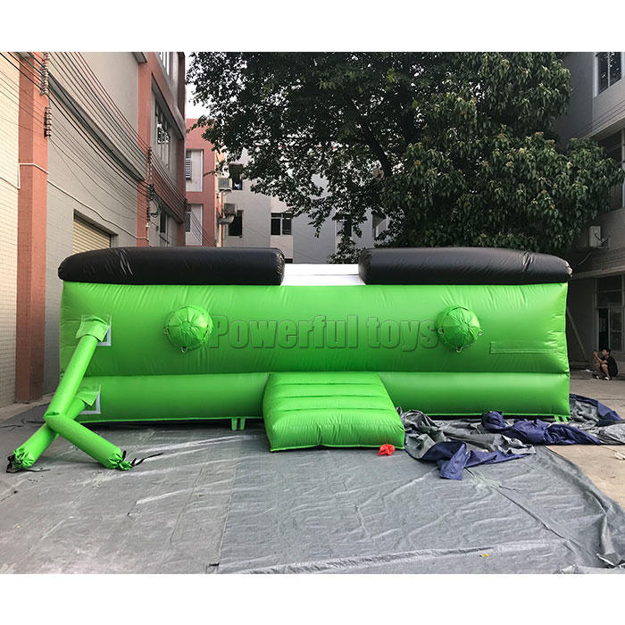 Stunt jump airbag for skiing inflatable sport game