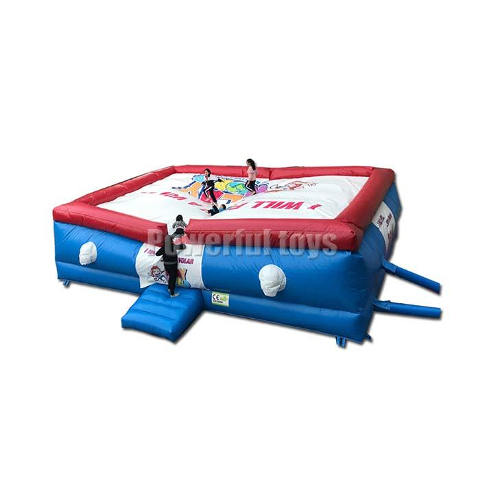 freedropping inflatable stunt jump air bag for adventure park