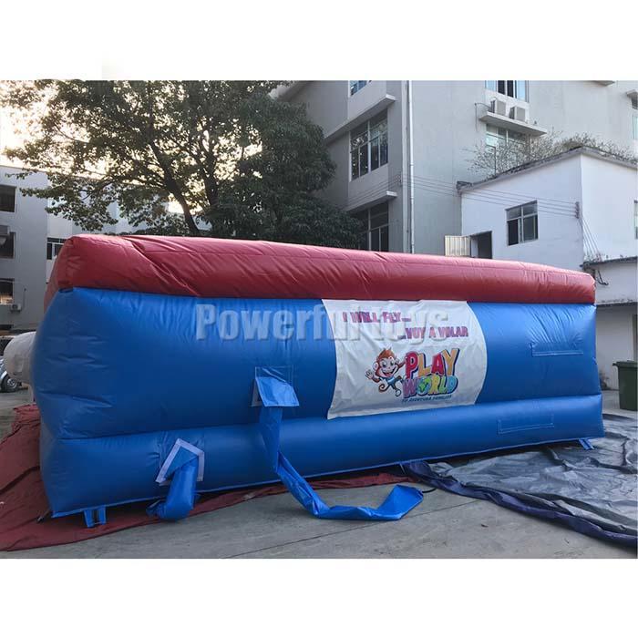 Stunt jump air bag for adventure park