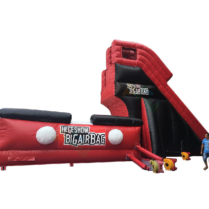 Powerful inflatable stunt jump airbag with platform best factory price