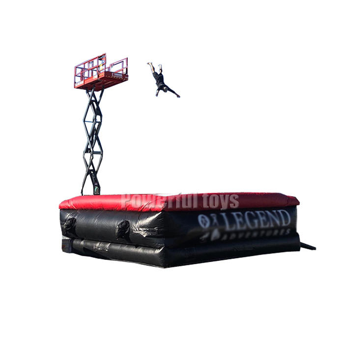 Professional Inflatable freefall stunt jump airbag