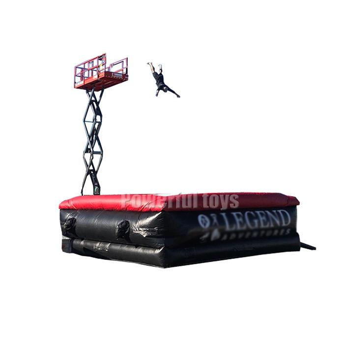 professional custom inflatable freefall stunt jump airbag free fall