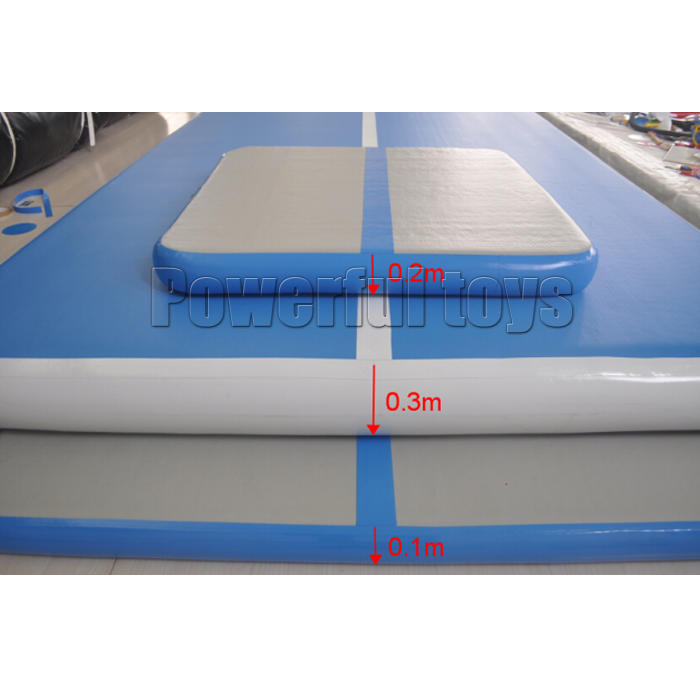 Inflatable air track floor for dancing club