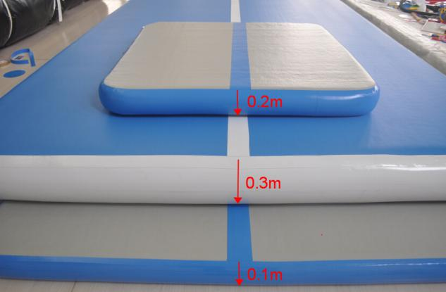 blue air track slip and slide for big trampoline-4