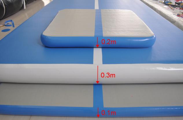 Powerful Toys blue air track tumbling mat gymnastics for big trampoline-4