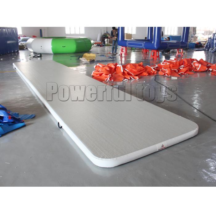blue air track slip and slide for big trampoline-6