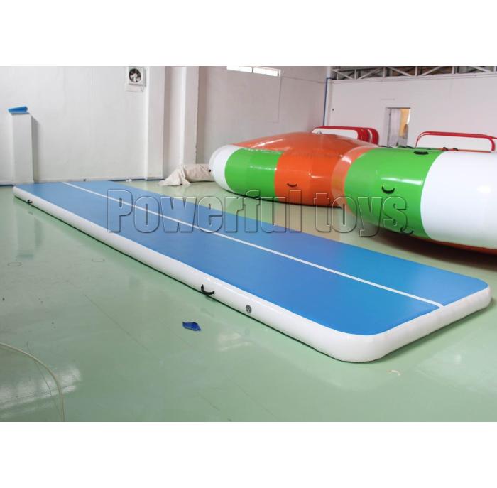 blue air track slip and slide for big trampoline-7
