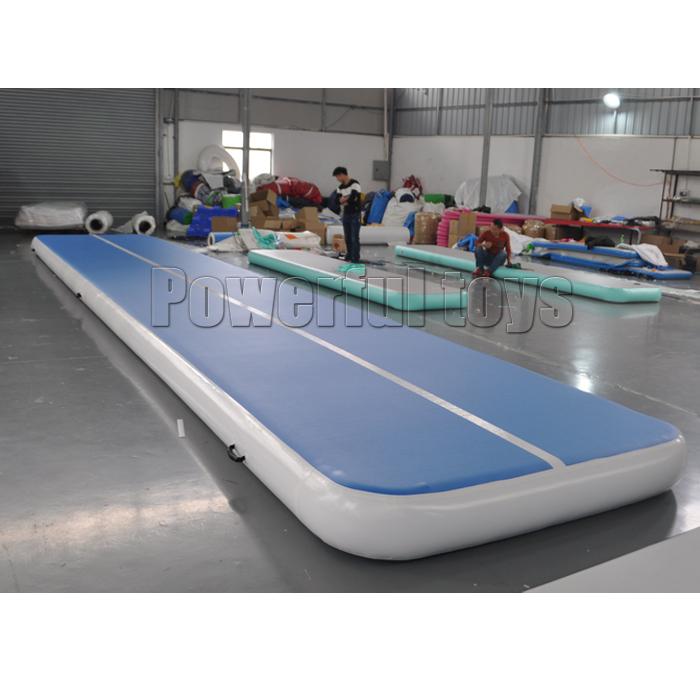 Powerful Toys blue air track tumbling mat gymnastics for big trampoline-8