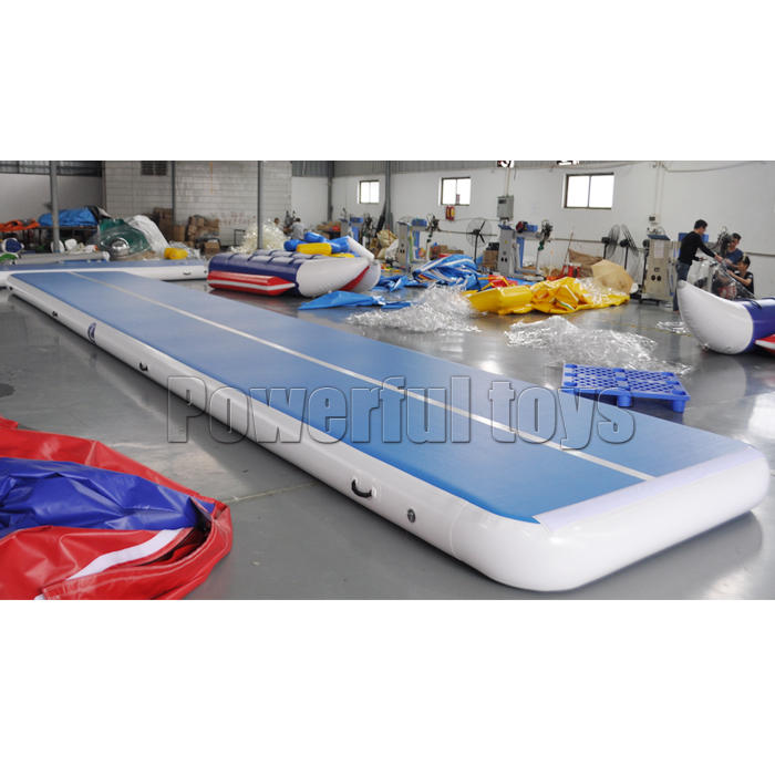 Gymnastic inflatable air track mat