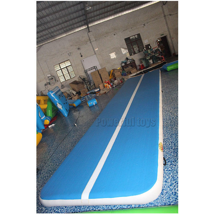Blue Inflatable Airtrack For Gymnastics