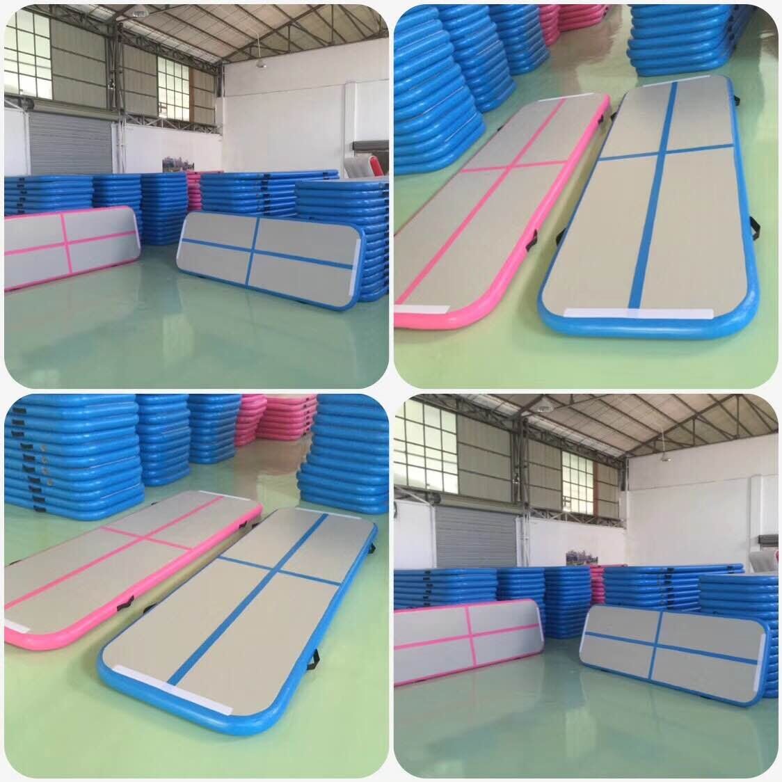 Powerful Toys blue air track trampoline mat for cheer leading-5