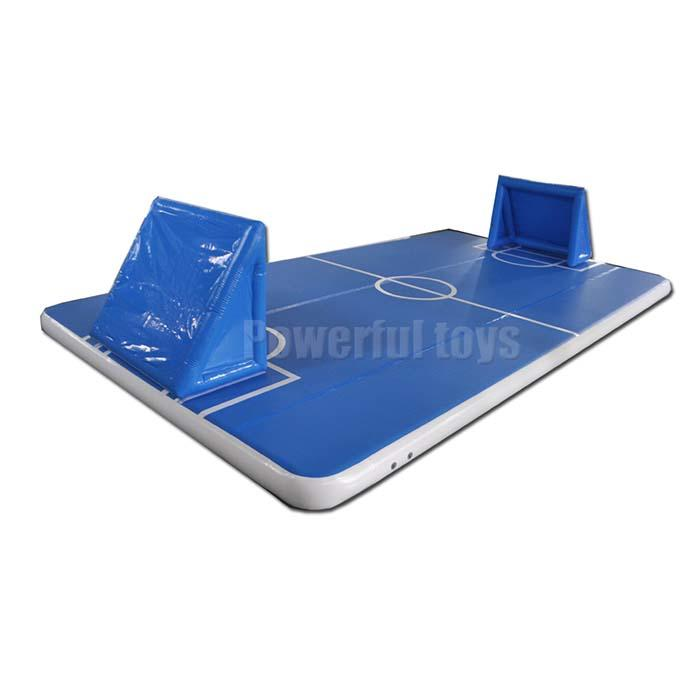 Gymnastic air track floor for football game
