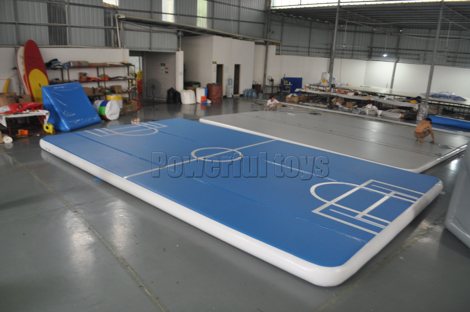 Gymnastic air track floor for football game-4