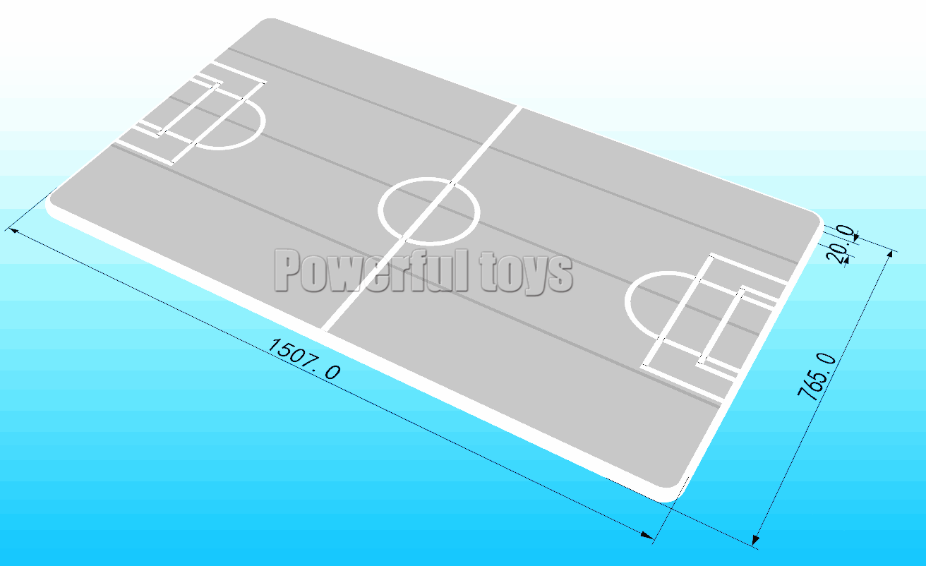 Gymnastic air track floor for football game-11