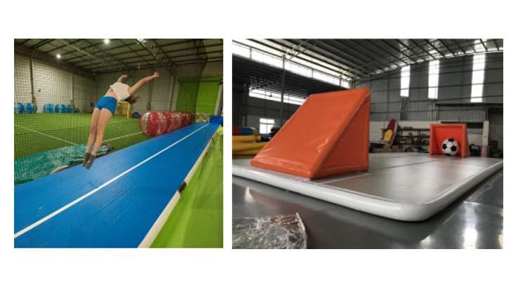 Powerful Toys inflatable air track slip and slide tumble for cheer leading