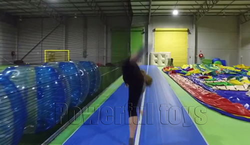 Powerful Toys blue air track gym for game-6