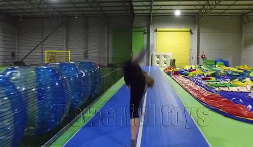 Powerful Toys gymnastic inflatable air track floor-6