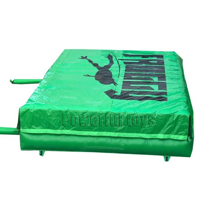 Foam pit airbag for trampoline park