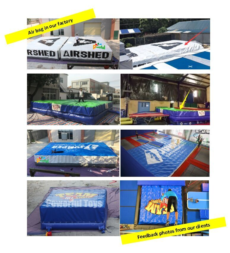 Customized Big Foam pit airbag for trampoline park-6