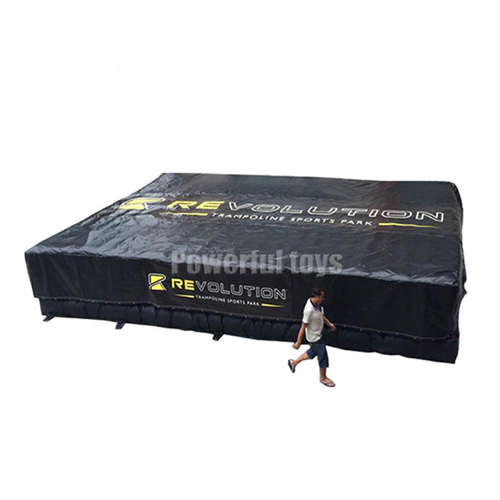Foam pit airbag for 8m high jump