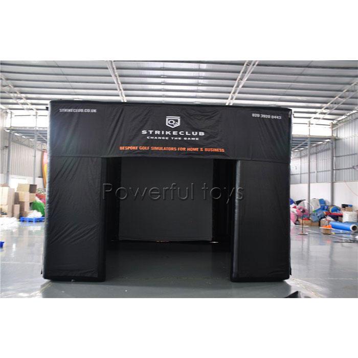 Golf simulator tent inflatable golf simulator building
