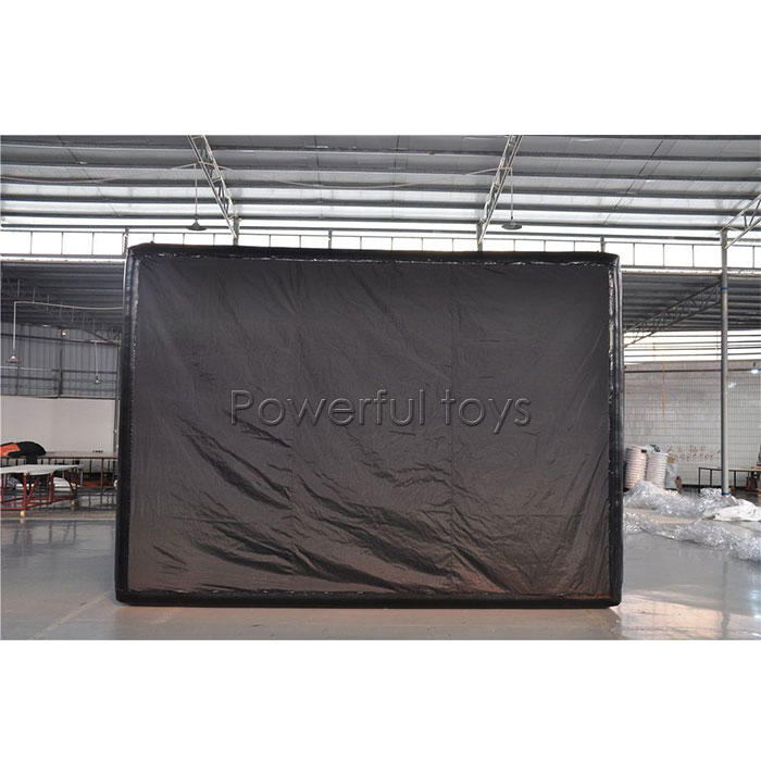 Golf simulator tent inflatable golf simulator building