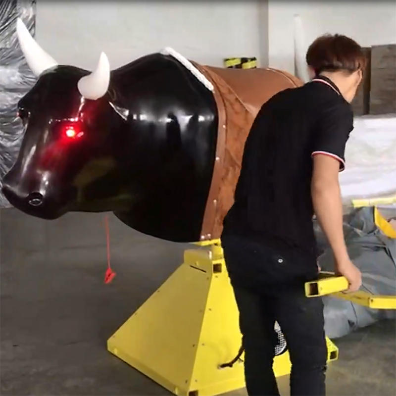 How to install of inflatable rodeo bull?