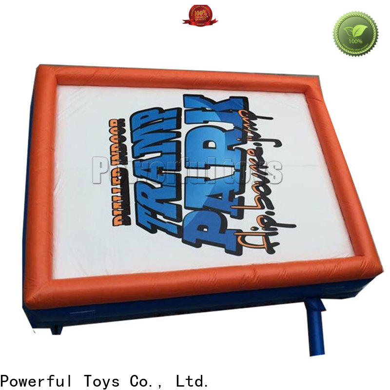 Powerful Toys inflatable air stunt fall for skateboard