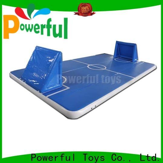 Powerful Toys blue air floor gymnastics gym for big trampoline