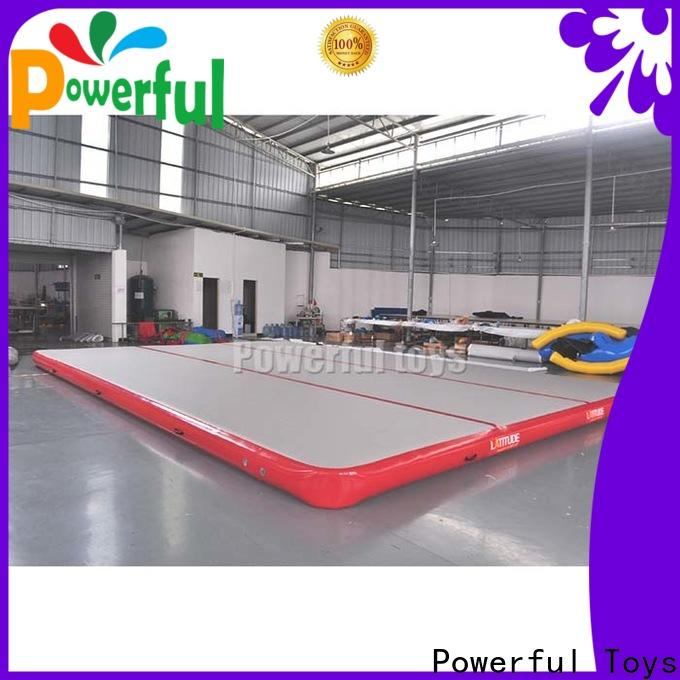 Powerful Toys inflatable air track gym for cheer leading