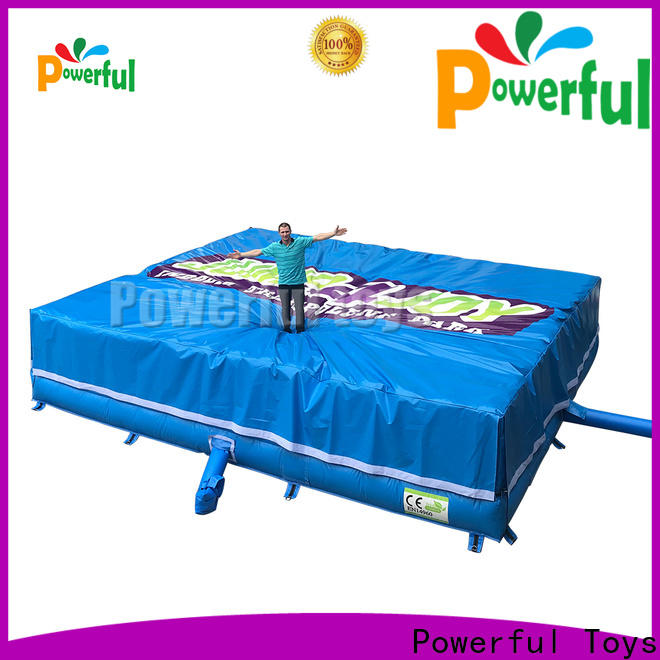 Powerful Toys trampoline air bag bulk for wholesale