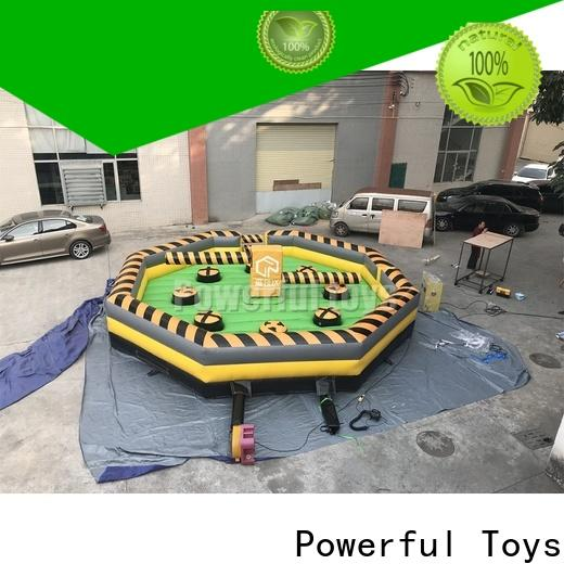 Powerful Toys high quality wipeout inflatable outdoor best factory price