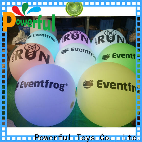 Powerful Toys inflatable led ball popular for wholesale