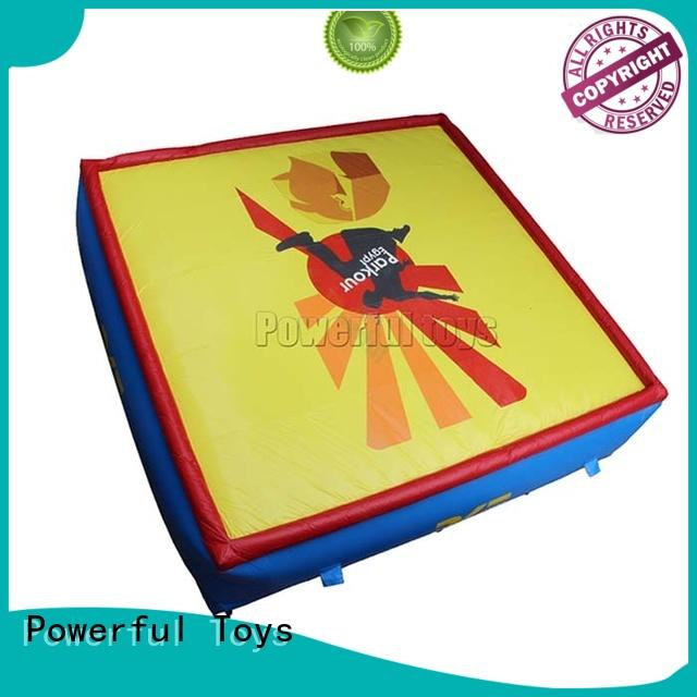 Powerful Toys inflatable jumping air bag free for park