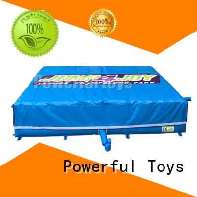 Powerful Toys landing foam pit air bag pad cushion
