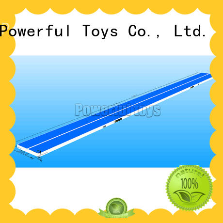Powerful Toys gymnastic air track trampoline cheap price for dancing