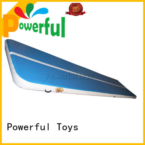 Powerful Toys blue inflatable tumbling mat gym for game