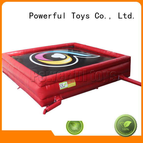 extreme fall sports OEM jump zone trampoline Powerful Toys