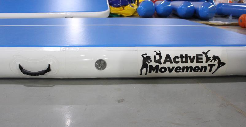 Powerful Toys blue air track tumbling mat gymnastics for big trampoline-3