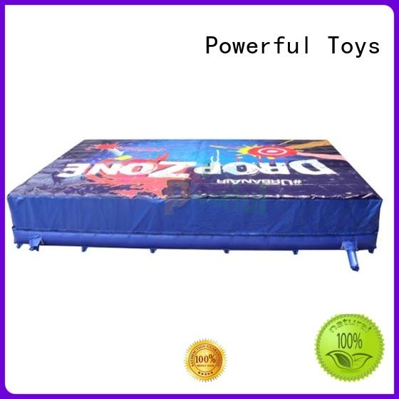 Powerful Toys airbag trampoline bulk for wholesale