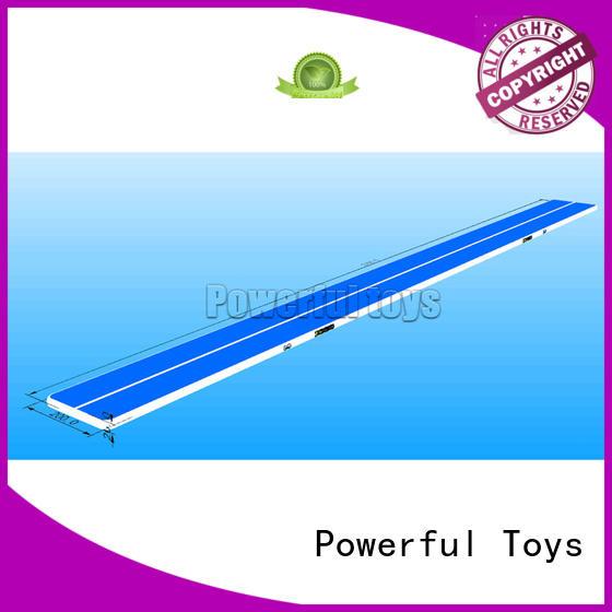 Powerful Toys gymnastic inflatable air track floor